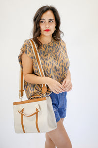 Something To Talk About Tote In Tan