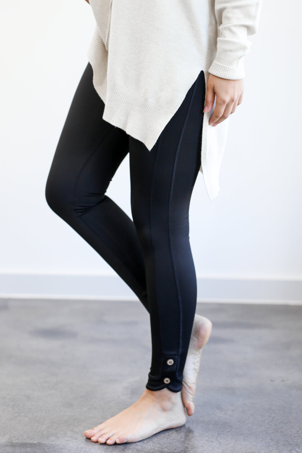 Ready To Go High Waisted Leggings In Black
