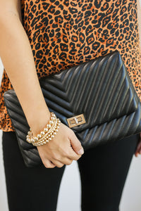 Touch Of Class Crossbody Clutch In Black