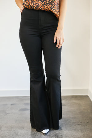 The Monica Flares In Black