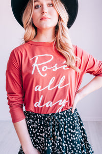 Rosé All Day Tee In Rust