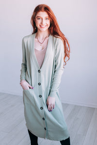 Living In Layers Cardigan In Sage