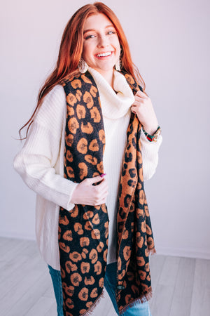 Livin' In The Wild Leopard Scarf