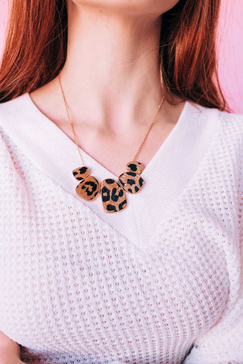 Positive Outlook Leopard Necklace