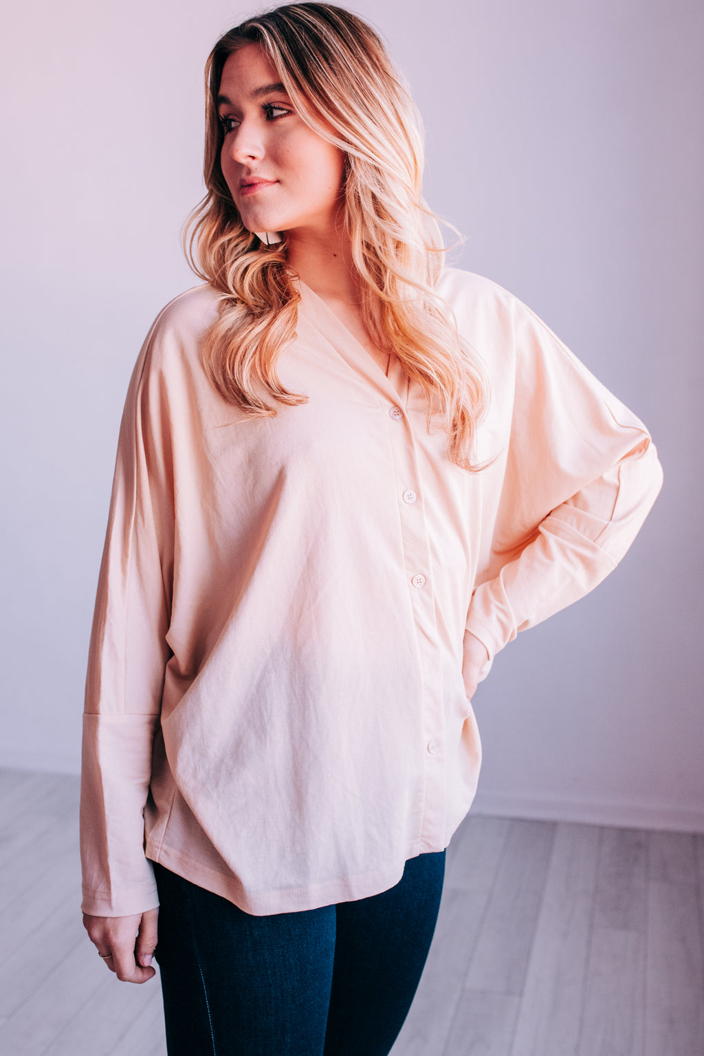 Spring Weekend Shift Top In Cream
