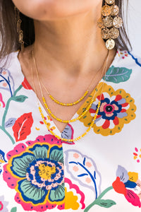Gorgeous Details Necklace In Mustard