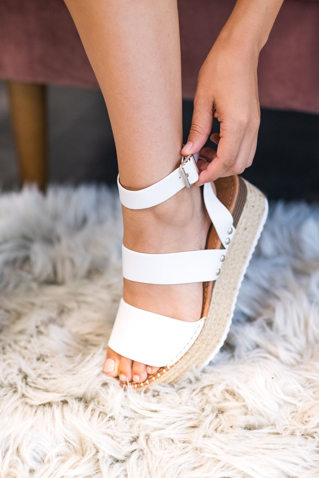 The Olivia Espadrille In White