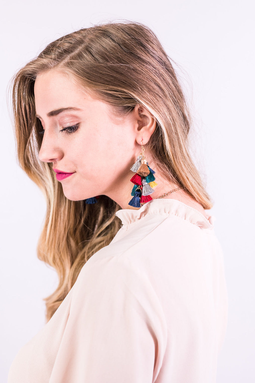 Bold Move Tassel Earrings In Multi