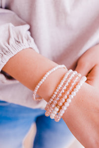 Stunningly Beautiful Bracelet Stack In Pink