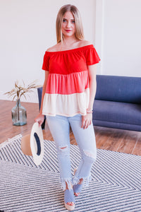 Playa Del Carmen Shift Top In Red
