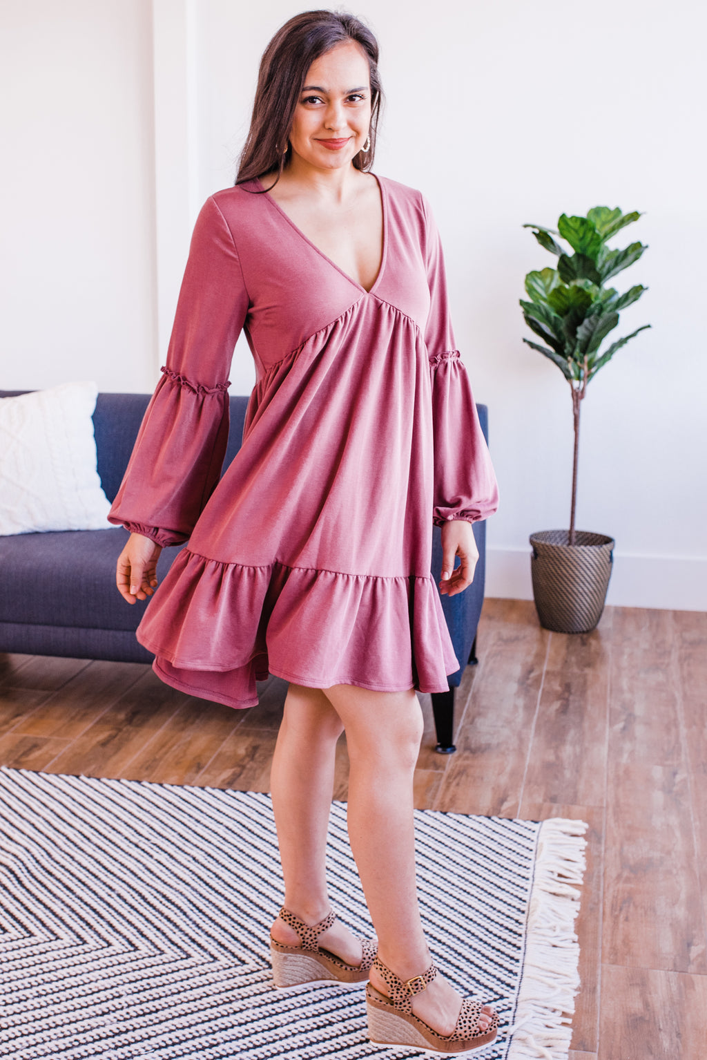 Destined For Greatness Shift Dress In Rose