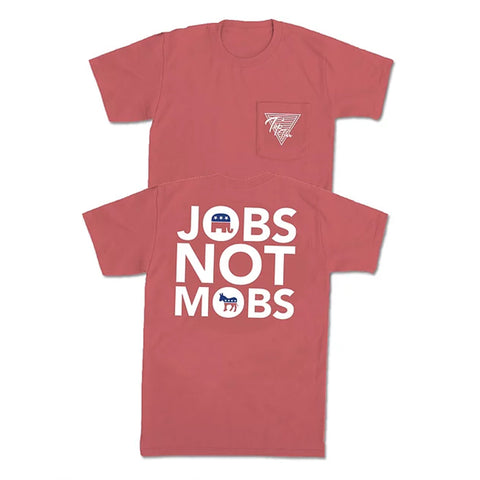 Jobs Not Mobs Pocket Tee