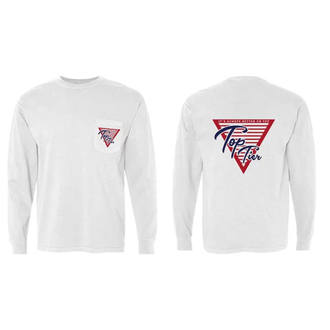 Top Tier Classic Logo Long Sleeve Pocket Tee