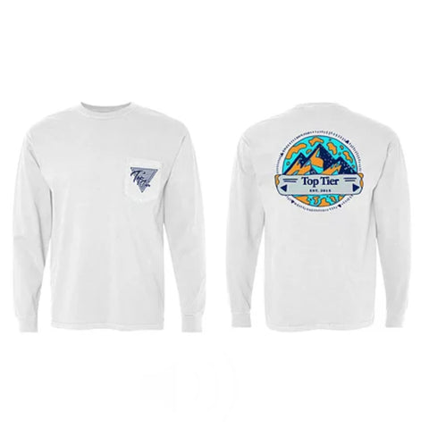Top Tier Mountain Range Longsleeve Pocket Tee