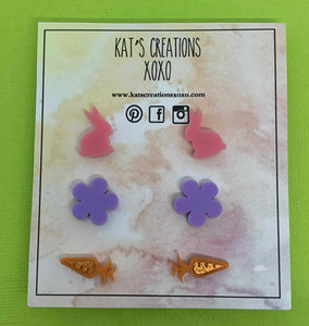 Easter trio stud pack- Kitty Kat Collection