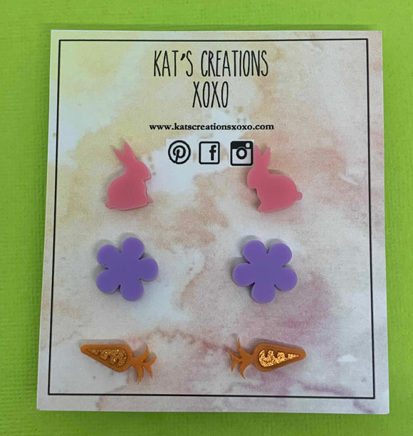 NEW Easter trio stud pack- Kitty Kat Collection
