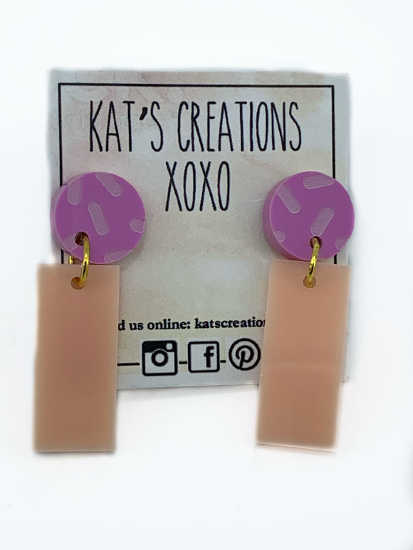 SALE Acrylic Dangle Earrings
