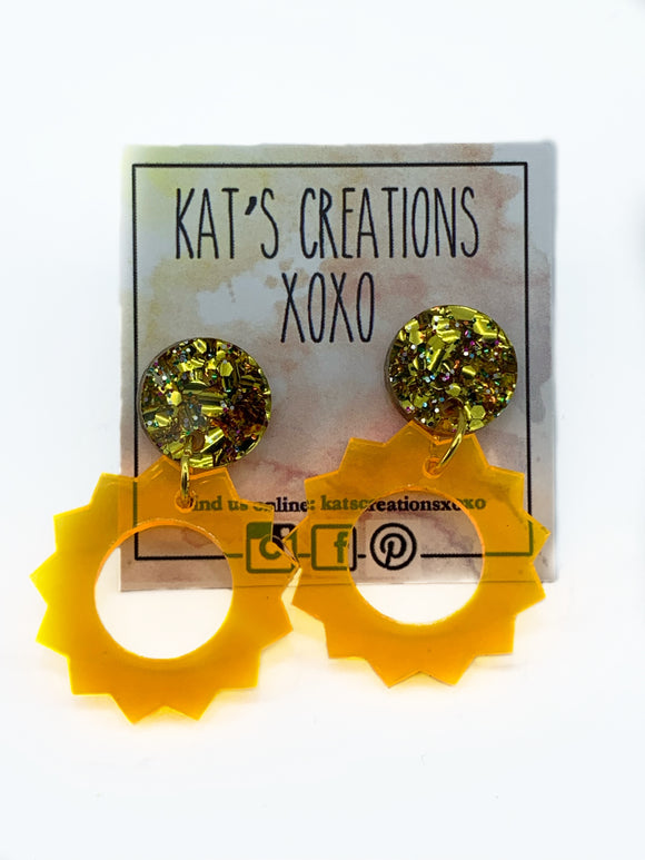 Sunshine Acrylic Dangle Earrings