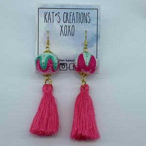 SALE Fab-Tas-Tic Dangle in pink and mint