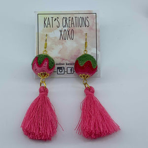 SALE Fab-Tas-Tic Dangle in pink and green