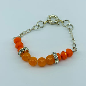 The Ombre Bracelet - Silver & Orange 1