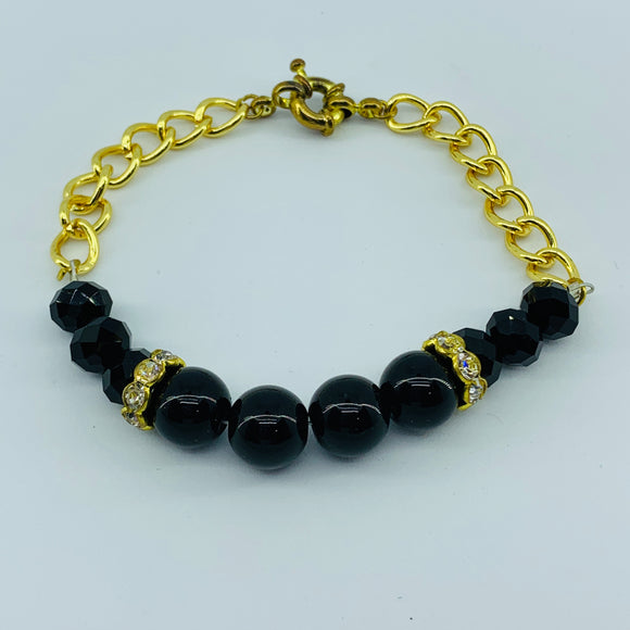 The Ombre Bracelet- Gold & Black
