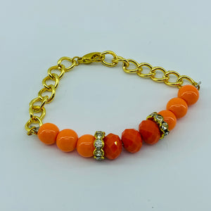The Ombre Bracelet- Gold & Orange