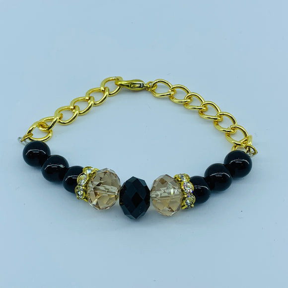 The Ombre Bracelet- Gold & Black 2