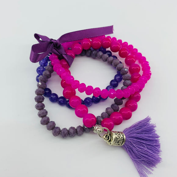 SALE Bracelet Bundle- Pink & Purple