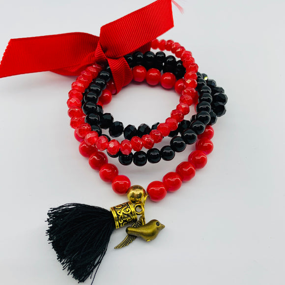 SALE Bracelet Bundle- Red & Black