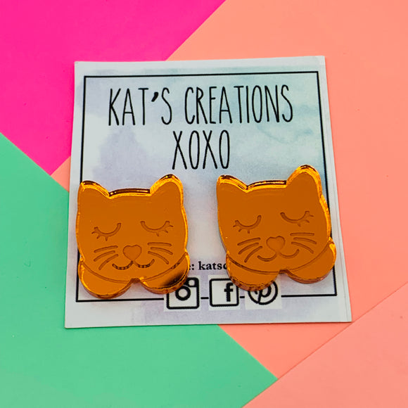 Kitty Cat Acrylic Statement Studs