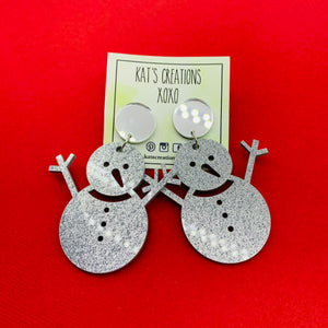 Frosty the Snowman Christmas Acrylic Dangles