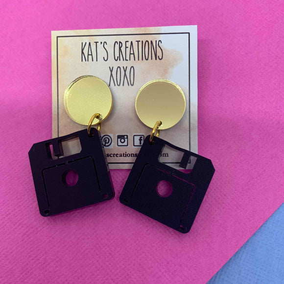 NEW Retro Floppy Disc Dangles