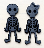 SALE Lazy Bones Acrylic Dangles