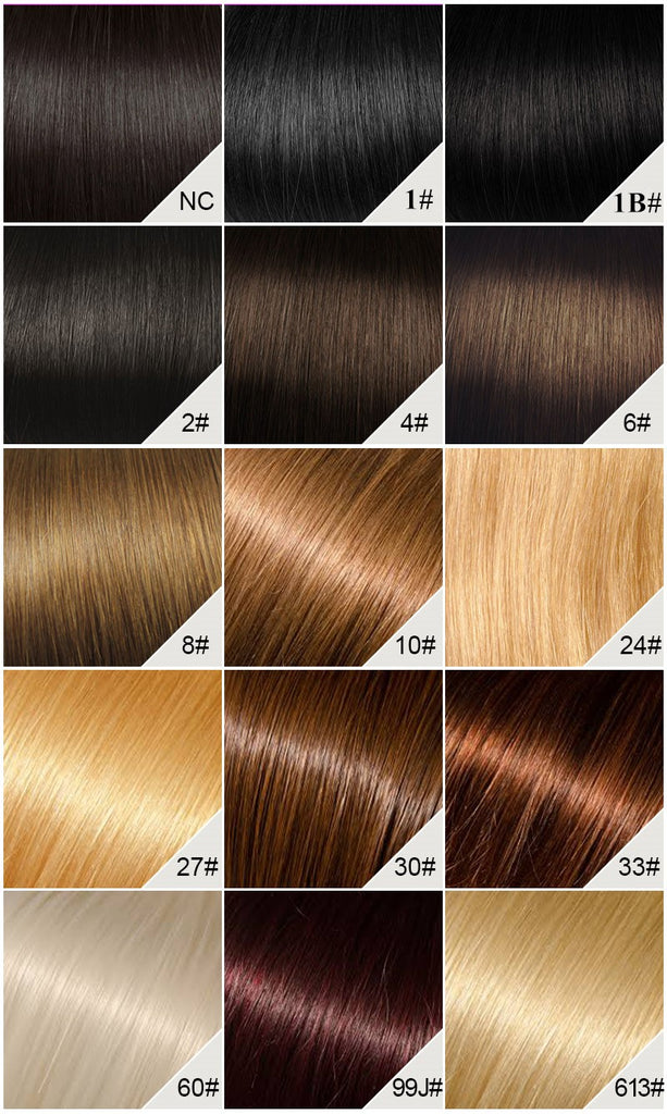 Queen Hairly Hair Color Chart