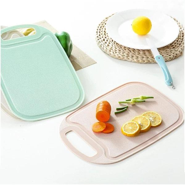 New Kitchen Plastic Chopping Block Meat Vegetable Cutting Board Non-slip Anti Overflow With Hang Hole Chopping Board
