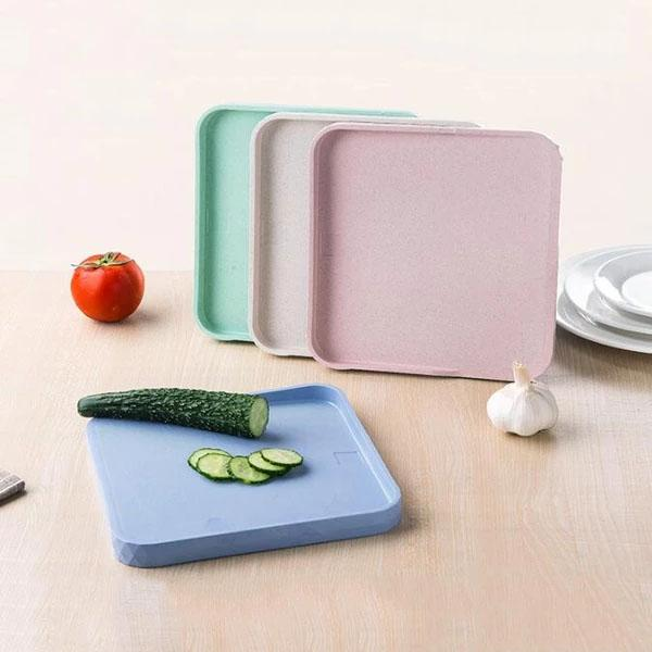 1PC Chopping Blocks Kitchen Double Chopping Board Wheat Straw Non-slip Frosted Antibacteria kitchen Cutting Board ENX 040