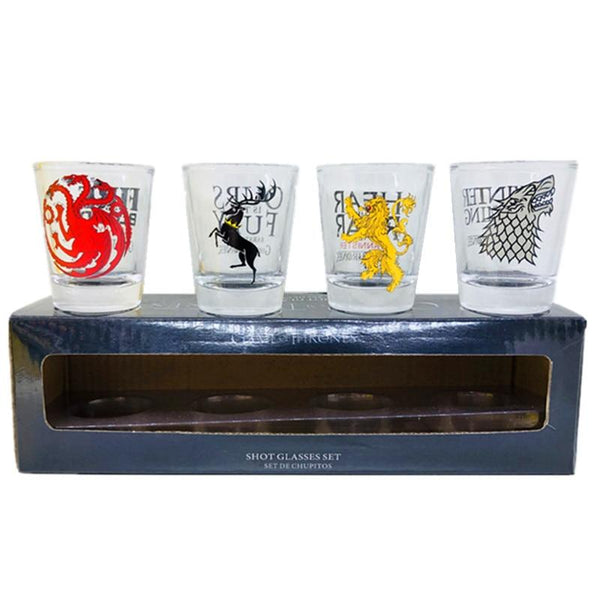 Game of thrones shot glasses whisky wine cup set small cups and mugs creative drinkware  fire and blood 11