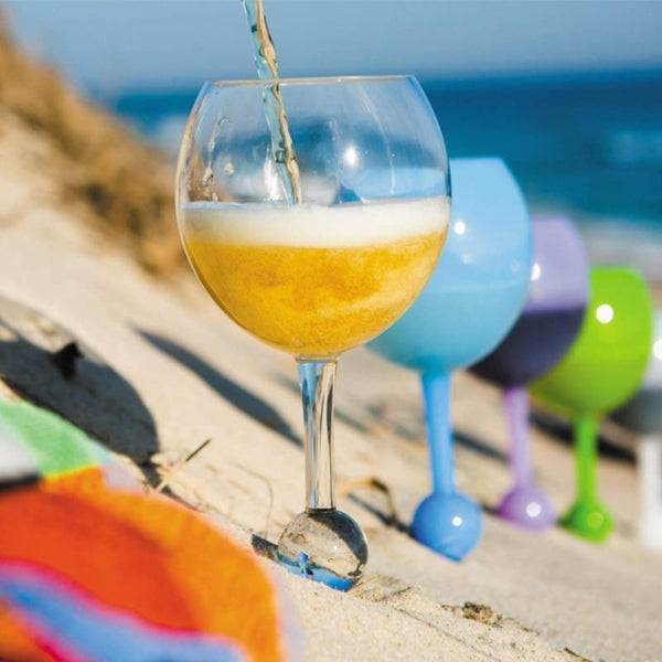 Beach Floating Glass Acrylic Shatterproof Wine Beer Cocktail Drinking Glasses for Pool Beach Outdoor Use Dropship