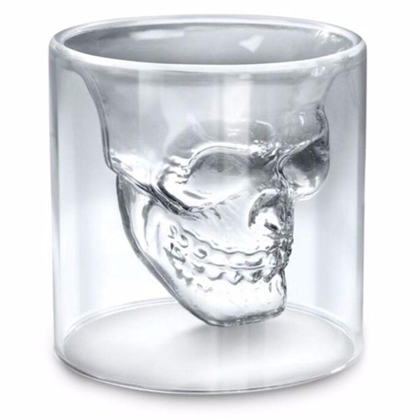 Skull Head Wine Glass Mug Crystal Beer Whiskey Shot Double Glass Cup Vodka Drinking Bar Club Beer Wine Glass Bottle