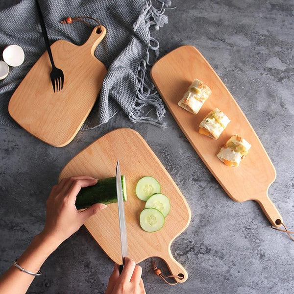 Hangable Wooden Bread Pizza Vegetable Fruit Cutting Board Solid Wood Chopping Board Cheese Board  Kitchen Stuff Accossary