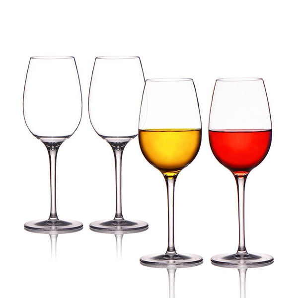 Unbreakable Wine Glasses Tritan PVC Shatterproof Wine Goblets BPA-free Dishwasher-safe 12.5 oz - Set of 4
