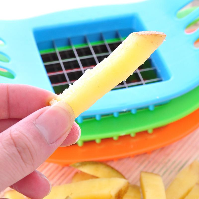 French Fries Cutter Potato Slicer Chips Maker Fruit Vegetable Stainless Steel Knife Kitchen Gadget Cooking Tools Accessories