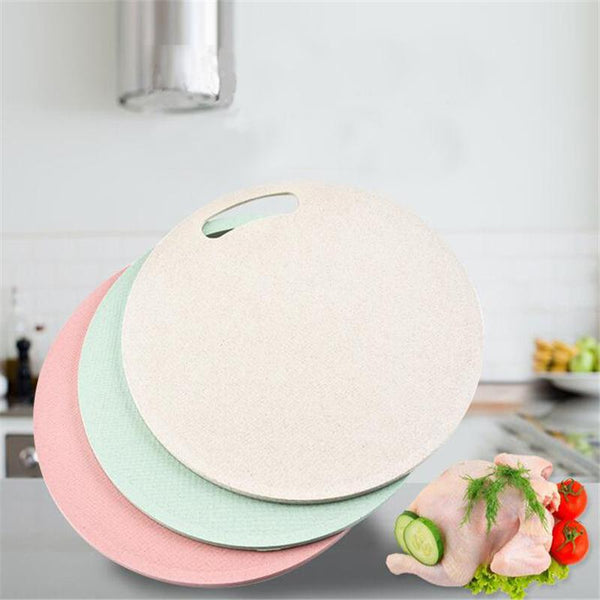 Round Chopping Blocks Wheat Straw Kitchen Board Fruit Vegetable Cutting Board Antibacterial Non-slip Cutting Boards Kitchen Tool