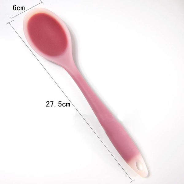 Hot Silicone Spatula New Environmentally Kitchen Supplies Necessity Translucent Non-stick Cookware Cooking Shovel XJS789