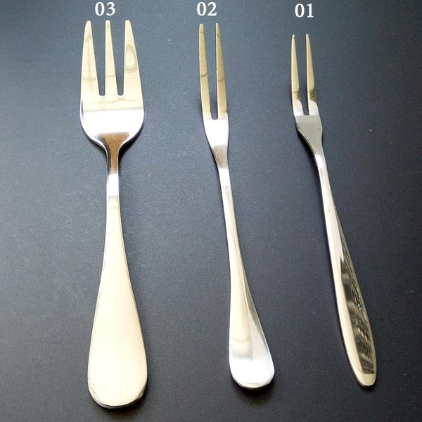 VanKood Stainless Steel Fruit Fork Dessert Fork Eco-friendly Two Tooth Dinner Forks Fork Western Style Kitchen BBQ Tool