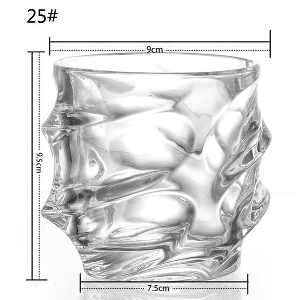 UPORS 350ML Whiskey Glass Unique Elegant Scotch Glasses Liquor Tumbler Crystal Whisky Glass for Home Party Wedding Glasses Gift