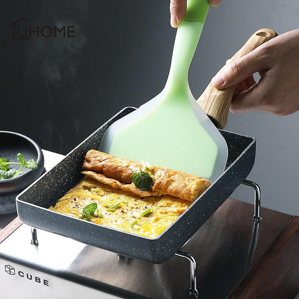 Kitchen Silicone Tamagoyaki Omelette Pan Turners Steak Spatula Temperature-resistant Silicone Shovel Baking Tools Kitchenware