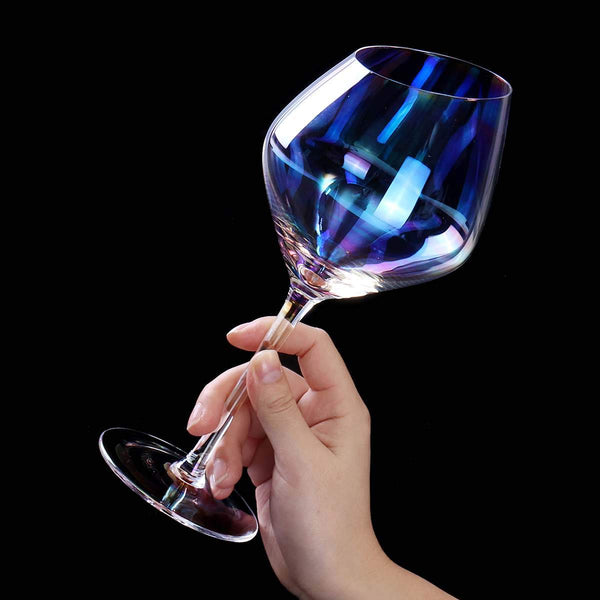Rainbow plated crystal glass wine Slanting glasses wineglass cup champagne glasses Bar Hotel party home wedding Drinkware