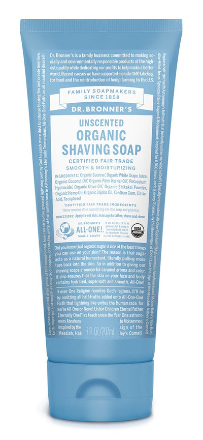 Baby Unscented - Organic Shaving Soap